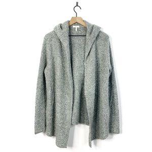 Joie Hadwyn Boucle Wool Hooded Cardigan Sweater L